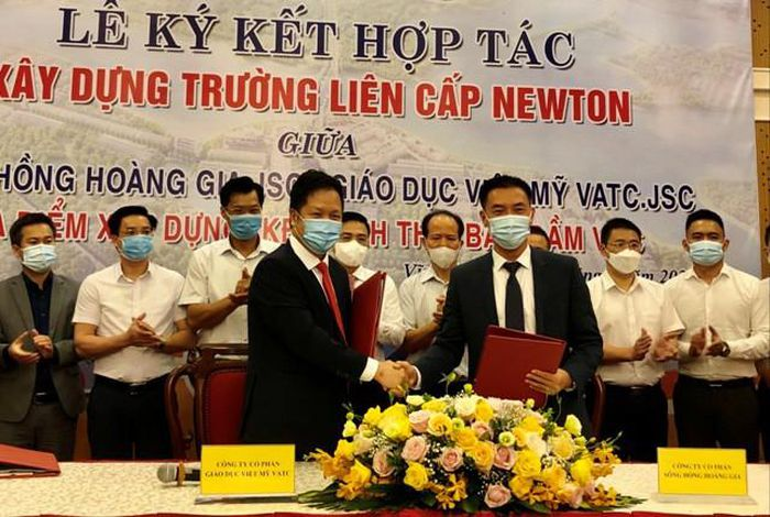 Lễ ký kết thành lập Trường Liên cấp Newton tại Khu đô thị sinh thái Bắc Đầm Vạc